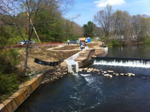 View of the new fishway at Wallace DamPhoto credit: Leah Schmalz