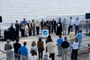 Press conference celebrating the defeat of Broadwater in 2008
