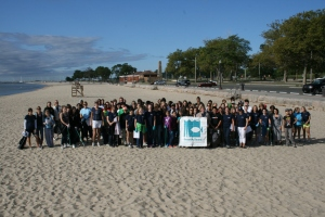 Volunteers at Seaside Park in Bridgeport during this year's International Coastal Cleanup