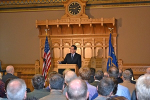 Governor Malloy speaking at the forum