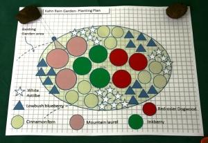Map of the rain garden