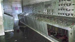 Flood damage in Yonkers wastewater plant secondary control room. (Photo courtesy Michael Coley.)