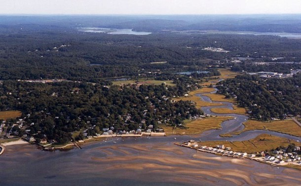The mouth of the Oyster River (credit Bob Lorenz)