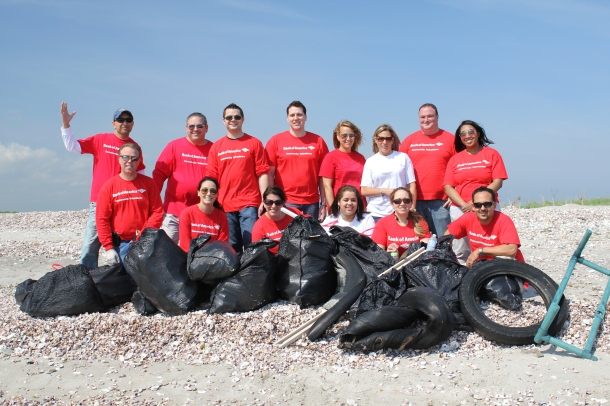 Beach cleanup with Bank of America.