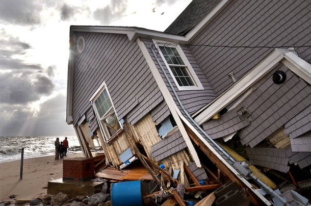 One of many destroyed homes in East Haven