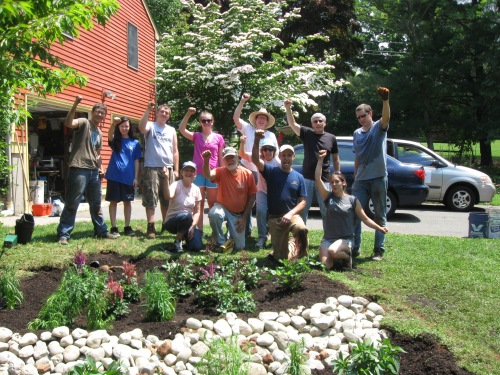 Another Completed Rain Garden! Our volunteers helped us build 9!