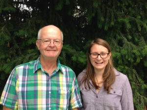Phil Horner (L) discovered the Marshlands spill. Talia Steiger (R) was our seasonal Bacteria Monitoring Coordinator.