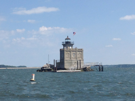 The stately Lloyd Harbor Lighthouse