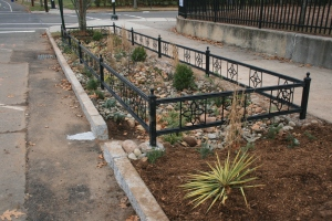 The Edgewood Bioswale was completed on Tuesday, December 16.