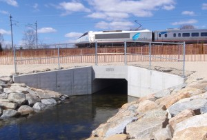 The new box culvert. Much shorter, much more permanent.