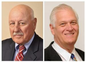 NY State Senator Ken LaValle (L) and NY State Assemblyman Steve Englebright (R).