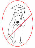 Educated Dog - with red slash