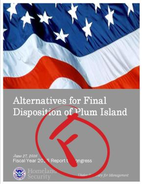Act Now: Department of Homeland Security's Plum Island Study WoefullyInadequate