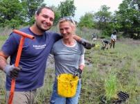 Volunteers at the Sunken Meadow planting in June 2016.