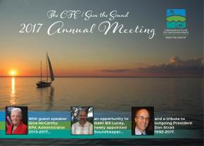 The 2017 CFE/Save the Sound Annual Meeting is October 1!